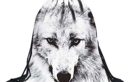 Vak na záda s motivem vlka