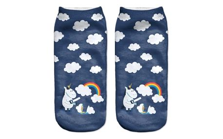 Kotníkové ponožky s roztomilým jednorožcem - více variant