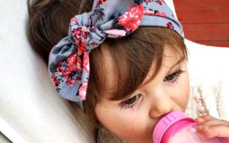 Dětská čelenka s mašlí