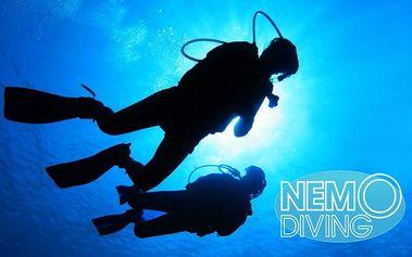 Kurz potápění s přístrojem pro začátečníky se slevami ve škole NemoDiving v Praze
