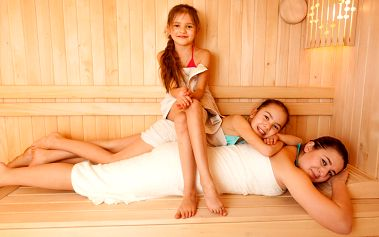 Saunování s dětmi: 90 minut relaxace i zábavy
