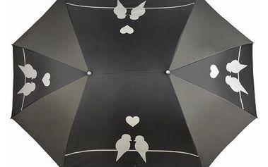 Černý deštník pro dvě osoby Ambiance Du Parapluie