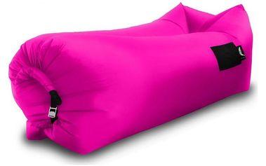 Sedací nafukovací vak BANANA BAG růžová