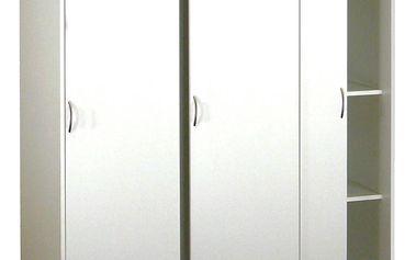 Skříň s posuvnými dveřmi 3323 bílá