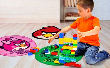 Dětské kulaté koberečky s motivy Angry Birds