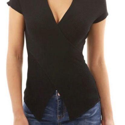 Dámské tričko s véčkovým výstřihem Abbi