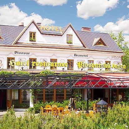 3–5denní pobyt s romantikou a pivem pro 2–4 osoby v hotelu Pivovarská bašta v Krkonoších