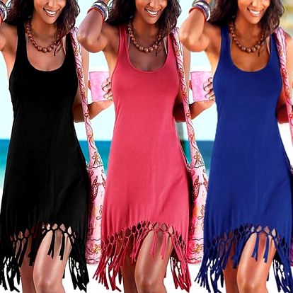 Dámské letní šaty s třásněmi Layla