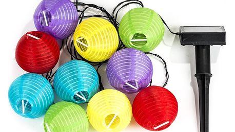 Solární osvětlení Lampions, barevné
