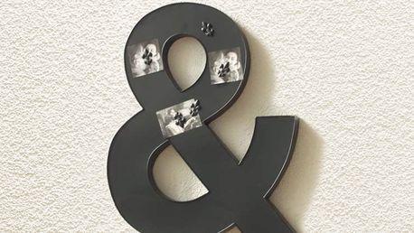 Dekorační magnetická tabule černá
