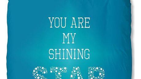 Tyrkysové povlečení Muller Textiel Star, 140x200cm