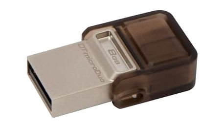 USB Flash Kingston 8GB OTG (DTDUO/8GB) hnědý