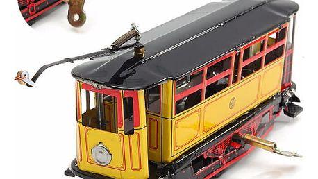 Retro tramvaj na klíček
