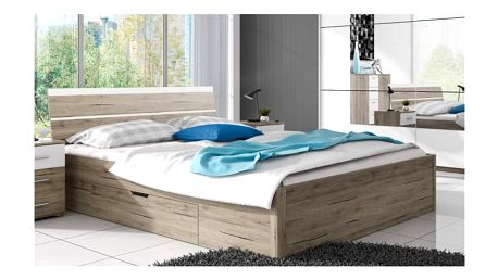 Manželská postel Dione 1 - dub san remo