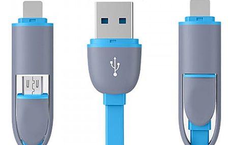 USB kabel 2 v 1 - více barev