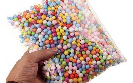 Sada dekoračních pěnových kuliček - 2 mm / různé barvy