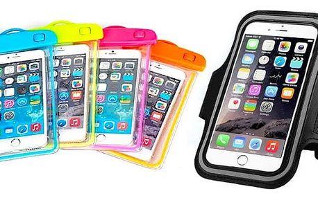 Vodotěsné nebo sportovní voděodolné pouzdro na mobilní telefon