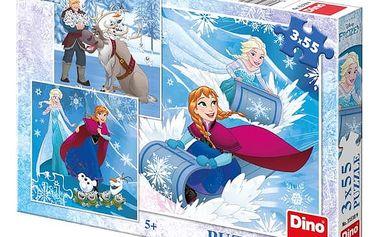 Puzzle Frozen: Zimní radovánky 3x55 dílků