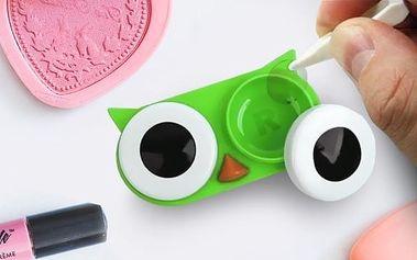 Pouzdro na kontaktní čočky Sova