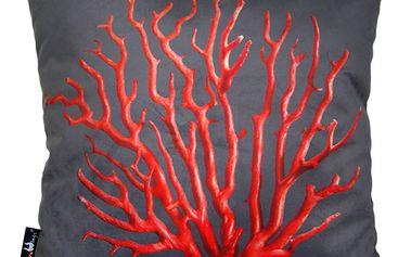 Polštář Merowings Coral Red, 45x45cm - doprava zdarma!