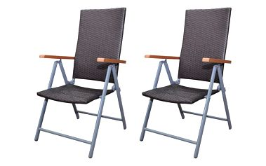 Ratanový hnědý set židlí 2 ks V0929 Dekorhome