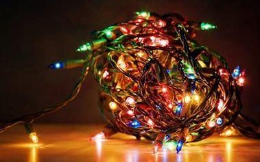 Vánoční LED osvětlení - 100 ks