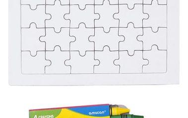 Kreslící puzzle s pastelkami - dodání do 2 dnů