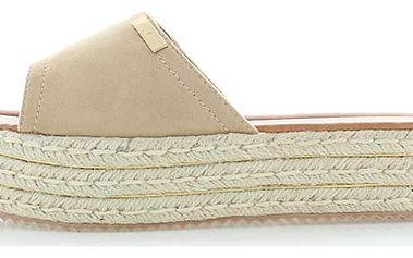 Béžové platformové pantofle Tamara