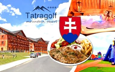 Jaro ve Vysokých Tatrách - pobyt v krásném hotelu Tatragolf Mountain Resort**** pro 2 osoby na 3 nebo 4 dny v luxusně zařízených apartmánech. Navíc sleva na vstup do AquaCity, termálního koupaliště Vrbov, VIP wellness nebo do masážního salónu přímo v reso