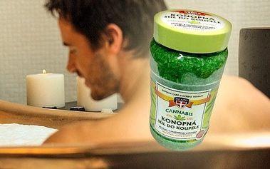 Konopná sůl do koupele pro úlevu Vašeho těla