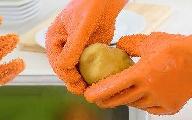 Rukavice na čištění zeleniny
