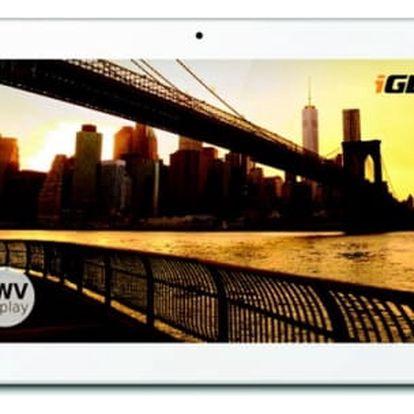 """Dotykový tablet iGET Smart S100 bílý (10.1"""", 8 GB, WF, Android 5.1) + dárek"""