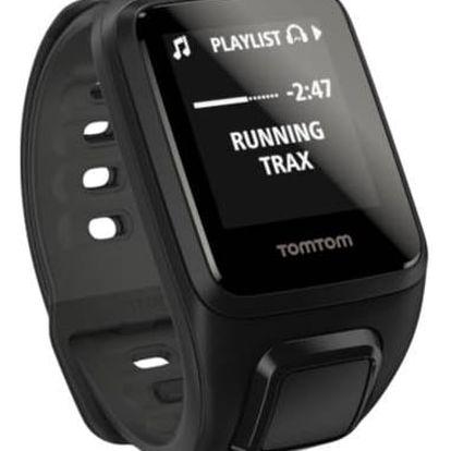 GPS hodinky Tomtom Spark Fitness Cardio + Music (S) + bluetooth sluchátka (1RFM.003.05) černé + Doprava zdarma