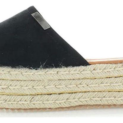 Černé platformové pantofle Tamara