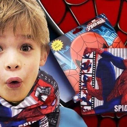 Nákrčník pro chlapce s motivem Spidermana