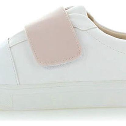 Bílo-růžové tenisky Jump