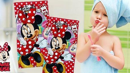 Disney ručník Minnie s puntíky
