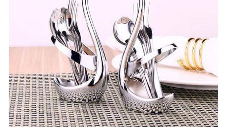 Stojánek Labuť na vidličky a lžíce - dodání do 2 dnů