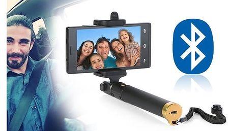 Selfie tyč s bluetooth ovládáním v rukojeti