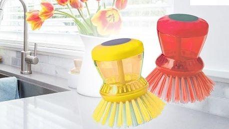 Kartáček na mytí nádobí s dávkovačem