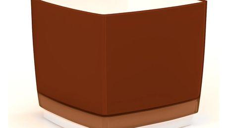 Plastový květináč Cube 150 hnědá