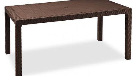 Melody - Stůl, 161 cm (hnědá)