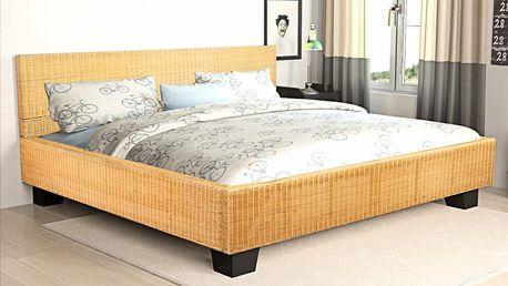 Ručně vyplétaná postel z přírodního ratanu 140 x 200 cm V1525 Dekorhome