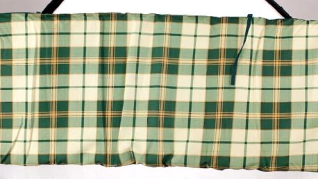 Polstr na houpačku (zelená kostka)