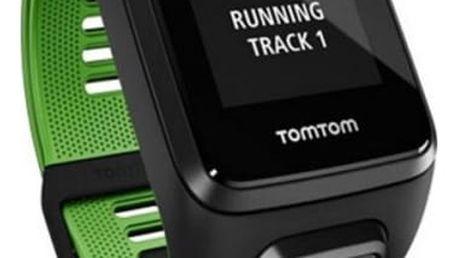 GPS hodinky Tomtom Runner 3 Cardio + Music + Bluetooth sluchátka (S) (1RKM.001.11) černé/zelené
