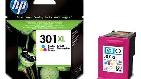 Inkoustová náplň HP No. 301XL, 330 stran - originální (CH564EE) červená/modrá/žlutá