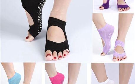 Kotníkové ponožky na jógu v černé barvě - dodání do 2 dnů