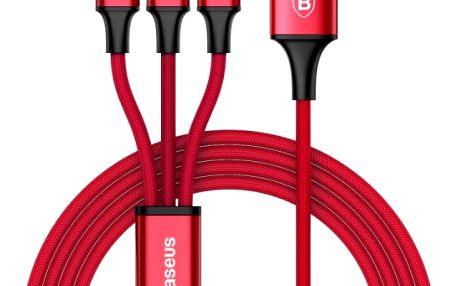 Multifunkční USB nabíjecí kabel - 3 typy konektorů v 1