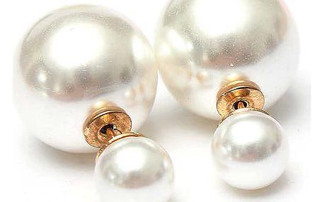 Oboustranné náušnice v podobě barevných perliček - dodání do 2 dnů
