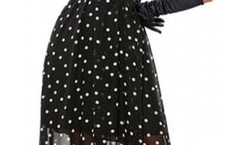 Dlouhé letní šaty s puntíky